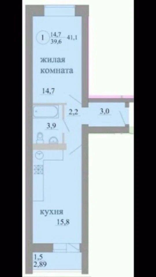 Продажа 2-комнатной новостройки, Киров, Березниковский пер,  34